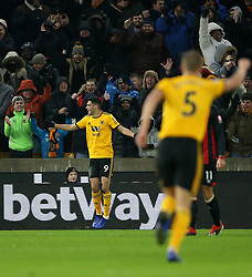 Wolverhampton Wanderers' Raul Jimenez celebrates scoring his side's first goal of the game