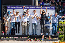 Weinberg Peter, GER, Verlooy Axel, BEL, Devos Pieter, BEL, Philippaerts Olivier, BEL<br /> European Championship Jumping<br /> Rotterdam 2019<br /> © Hippo Foto - Dirk Caremans