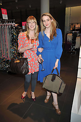 Left to right, CARLY LAWSON daughter of Twiggy and DAISY DE VILLENEUVE at a party to celebrate the launch of the Matthew Williamson collection at H&M held at the H&M store, Regent Street, London on 22nd April 2009.