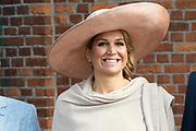 Koning Willem-Alexander en koningin Maxima tijdens hun streekbezoek aan Zeeuws Vlaanderen<br /> <br /> King Willem-Alexander and Queen Maxima  during their visit to Zeeuws Vlaanderen.<br /> <br /> Op de foto / On the photo:  Koningin Maxima / Queen Maxima