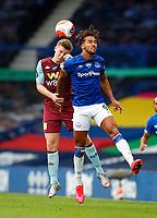Football - 2019 / 2020 Premier League - Everton vs Aston Villa<br /> <br /> Dominic Calvert-Lewin of Everton and Matt Targett of Aston Villa at Goodison Park<br /> <br /> COLORSPORT/LYNNE CAMERON