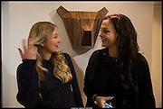ADELE UZBEKOVA; CARINA STREBEL; , Born in the USSR, Design exhibition opening. Gallery Elena Shchukina, Beauchamp Place, Knightsbridge. London. 15 September 2014.