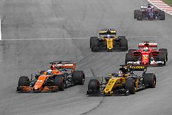 October 1, 2017 - Sepang, Malaysia - Motorsports: FIA Formula One World Championship 2017, Grand Prix of Malaysia, ..#14 Fernando Alonso (ESP, McLaren Honda), #27 Nico Hulkenberg (GER, Renault Sport F1 Team) (Credit Image: © Hoch Zwei via ZUMA Wire)
