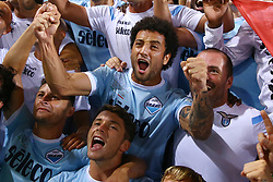 August 13, 2017 - Rome, Italy - Lazio players celebrate their victory after the Italian Supercup match between Juventus and SS Lazio at Stadio Olimpico on August 13, 2017 in Rome, Italy. (Credit Image: © Matteo Ciambelli/NurPhoto via ZUMA Press)
