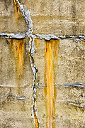 Exterior wall of a WWII bunker, April, Fort Flagler State Park, Jefferson County, Washington, USA