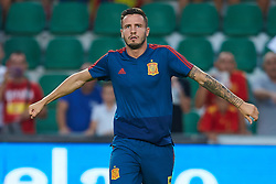 September 11, 2018 - Elche, Alicante, Spain - Saul warm up after the match during the UEFA Nations League football match between Spain and Croatia at Martinez Valero Stadium in Elche on September 11, 2018  (Credit Image: © Sergio Lopez/NurPhoto/ZUMA Press)