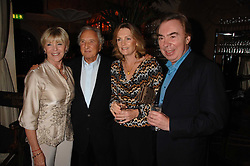 Left to right, GERALDINE LYNTON-EDWARDS, MICHAEL WINNER and LORD & LADY LLOYD-WEBBER at a party to celebrate the publication of Michael Winner's new book 'Fat Pig Diet' held at The Belvedere, Holland Park, London on 17th October 2007.<br />