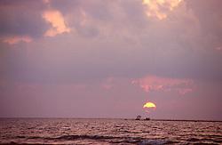 BURMA CHAUNG THA/BAY OF BENGAL MAR95 - Sun sets on a beach at the Bay of Bengal. Chaung Tha is a small but popular destination for Burmese urban dwellers to come and relax. . . jre/Photo by Jiri Rezac. . © Jiri Rezac 1995. . Contact: +44 (0) 7050 110 417. Mobile: +44 (0) 7801 337 683. Office: +44 (0) 20 8968 9635. . Email: jiri@jirirezac.com. Web: www.jirirezac.com