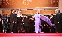 Actress Jessica Chastain at the Foxcatcher gala screening red carpet at the 67th Cannes Film Festival France. Monday 19th May 2014 in Cannes Film Festival, France.