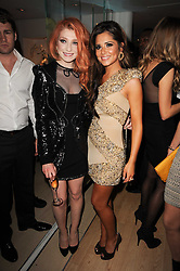 Left to right, NICOLA ROBERTS and CHERYL COLE at the launch party for 'Promise', a new capsule ring collection created by Cheryl Cole and de Grisogono held at Nobu, Park Lane, London on 29th September 2010.