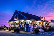 Mac's Pier and Seafood Market, Wellfleet, Cape Cod, Massachusetts, USA.