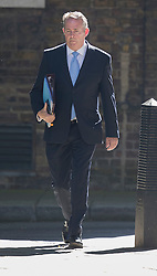 © Licensed to London News Pictures. 19/07/2016. London, UK. Liam Fox MP, Secretary of State for International Trade and President of the Board of Trade, arrives in Downing Street for Prime Minister Theresa May's first cabinet.  Photo credit: Peter Macdiarmid/LNP