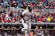 David Ortiz #34 of the Boston Red Sox runs to 1st base during a game against the Minnesota Twins on May 17, 2013 at Target Field in Minneapolis, Minnesota.  The Red Sox defeated the Twins 3 to 2.  Photo: Ben Krause