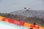 Brita Sigourney, USA, during the womens skiing halfpipe finals at the Pyeongchang 2018 Winter Olympics on February 20th 2018, at the Phoenix Snow Park in Pyeongchang-gun, South Korea