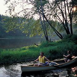 Canterbury, NH.Paddling on a tributary of the Merrimack River.  Gold Star Farm, Canterbury, New Hampshire.  Silver Maple floodplain forest.