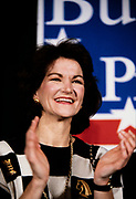 Bay Buchanan, sister of 1992 Republican Presidential candidate Pat Buchanan speaks at a campaign rally in Marietta, Georgia.