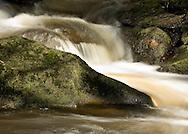 Flowing water at Padley Gorge, Peak District National Park