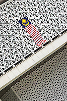 Close up details of Kuala Lumpur's beautiful National Mosque.