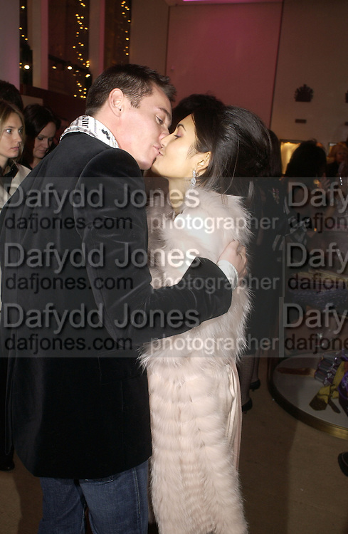 "Reena Hammer AND Jonathan Rhys-Meyers. The after show party following the UK Premiere of ""Match Point,"" at Asprey, New Bond st. London.   December 18 2005 ,  ONE TIME USE ONLY - DO NOT ARCHIVE  © Copyright Photograph by Dafydd Jones 66 Stockwell Park Rd. London SW9 0DA Tel 020 7733 0108 www.dafjones.com"