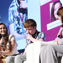 Belgium - Brussels - 10 March 2014 - Innovation Convention 2014 - Lessons from generation Z - What do young (18 and under) innovators think? - Elif BILGIN , Winner of Google Science Fair 2013 Science in Action Award and Voter's Choice Award  - Jordan CASEY , Founder of TeachWare - Maire GEOGHEGAN-QUINN , European Commissioner for Research , Innovation and Science ©EC/CE