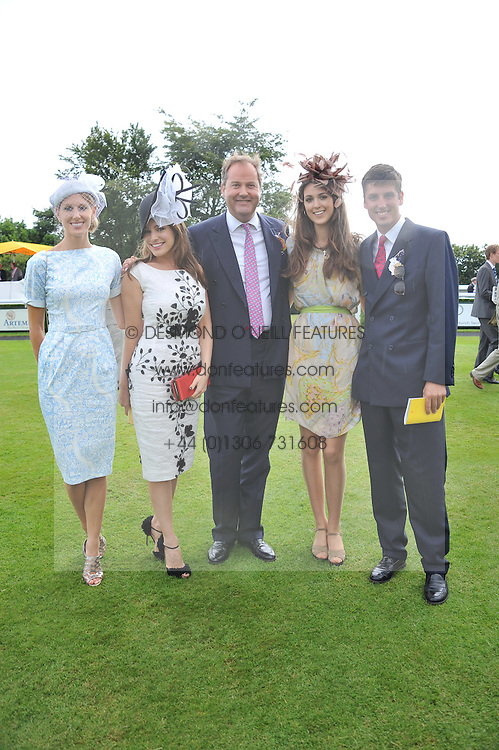 Left to right, SUSANNA WARREN, KELLY BROOK,  the HON.HARRY HERBERT his daughter CHLOE HERBERT and JAKE WARREN at the 3rd day of the 2012 Glorious Goodwood racing festival at Goodwood Racecourse, West Sussex on 2nd August 2012.