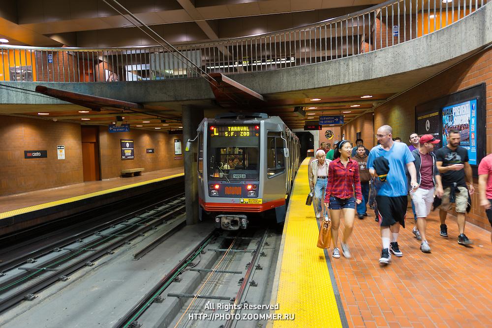 San Francisco subway train, California