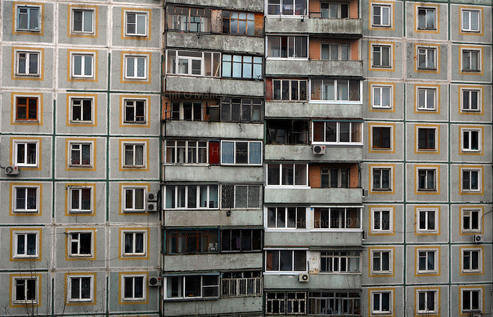 """Photo by Heathcliff Omalley..A """"Khrushchevka"""" apartment block in the centre of the city of Khabarovsk in Far Eastern Russia ."""