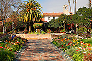 The Central Courtyard At The Historic Mission San Juan Capistrano, Orange County, California