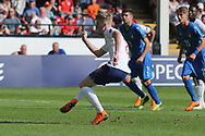 Thomas Doyle of England (8) takes a penalty during the UEFA European Under 17 Championship 2018 match between England and Italy at the Banks's Stadium, Walsall, England on 7 May 2018. Picture by Mick Haynes.