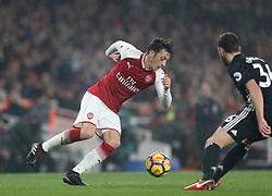 02 December 2017 London : Premier League Football : Arsenal v Manchester United - Mesut Ozil in action for Arsenal.<br /> (photo by Mark Leech)