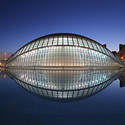 La Hemisferico by dusk (reflection), Valencia, Spain (December 2006)