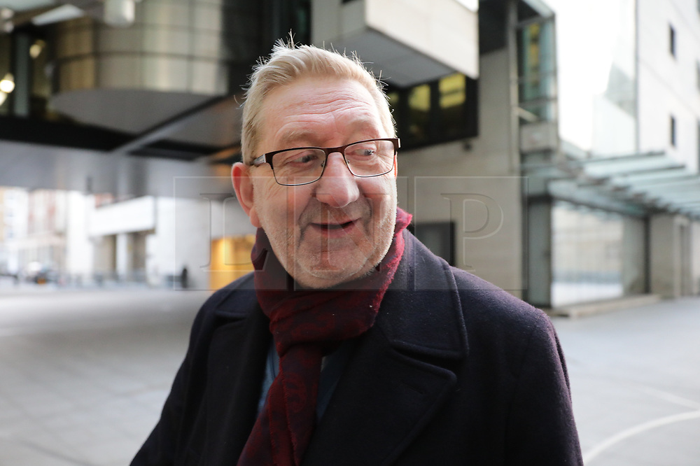 © Licensed to London News Pictures. 15/12/2019. London, UK. General Secretary of Unite Len McCluskey at BBC Broadcasting House to appear on the Andrew Marr Show. Photo credit: Rob Pinney/LNP