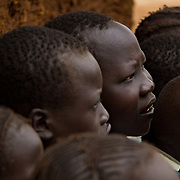 Children at the Gambela Sunday School. These refugees from Ethiopia are now part of the Christian minority among Dadaab's largely Muslim population. North Eastern Province, Kenya.