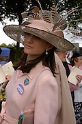 Mrs. Richard Pilkington. Royal Ascot Race meeting Ascot at York. Tuesday 14 June 2005. ONE TIME USE ONLY - DO NOT ARCHIVE  © Copyright Photograph by Dafydd Jones 66 Stockwell Park Rd. London SW9 0DA Tel 020 7733 0108 www.dafjones.com