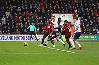 Football - 2017 / 2018 Premier League - AFC Bournemouth vs. Tottenham Hotspur<br /> <br /> Bournemouth's Callum Wilson shoots and scores only for his strike to be ruled out for a push at Dean Court (Vitality Stadium) Bournemouth <br /> <br /> COLORSPORT/SHAUN BOGGUST