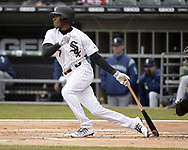 CHICAGO - APRIL 05:  Tim Anderson #7 of the Chicago White Sox bats against the Seattle Mariners on April 5, 2019 at Guaranteed Rate Field in Chicago, Illinois.  (Photo by Ron Vesely)  Subject:  Tim Anderson