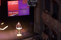Labour Party's 100th birthday at the Old Vic theatre, London ..TONY BLAIR giving his speech, February 27, 2000. Photo by Andrew Parsons / i-images..