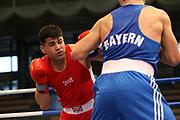 Boxen: Elite, Deutsche Meisterschaften, Viertelfinale, Lübeck, 07.12.2017<br /> Halbschwergewicht 81 Kg: Ammar Abbas Abduljabar (Hamburg) - Michael Eifert (BAyern)<br /> © Torsten Helmke