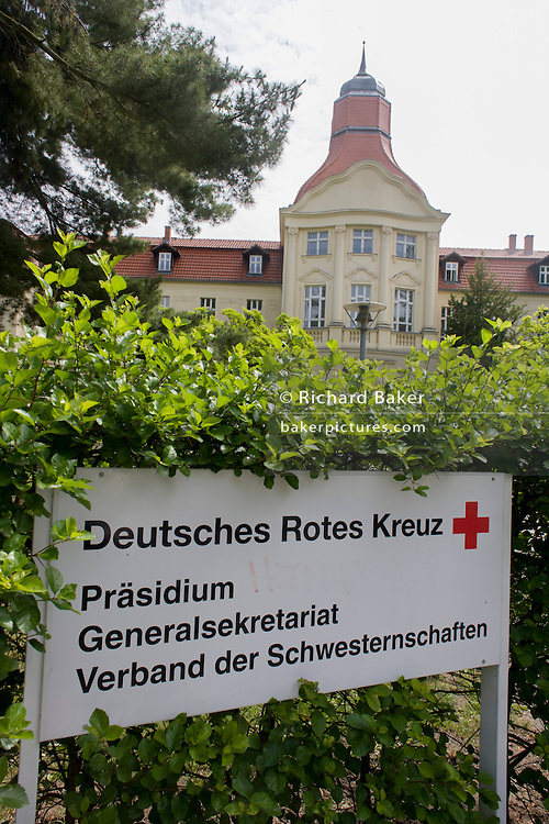 German Red Cross (Deutsches Rotes Kreuz - DRK) administrative HQ at 58 Carstennstrasse, Berlin.