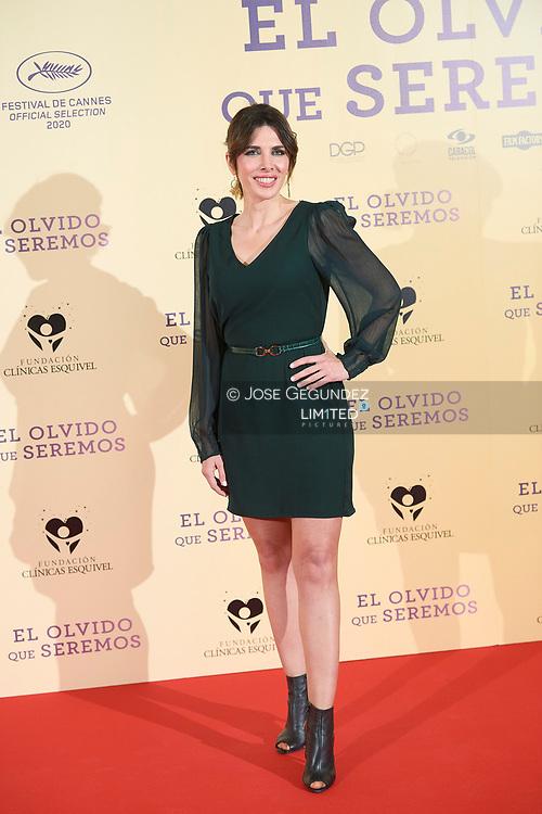 Veronica Sanz attends 'El Olvido que seremos' Premiere at Paz Cinema on May 5, 2021 in Madrid, Spain