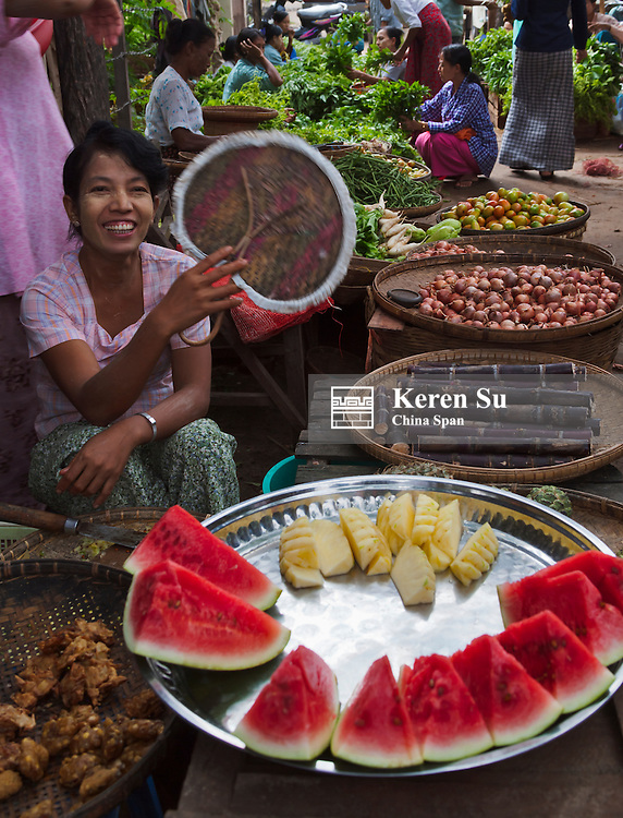 Local vegetable market, Bagan, Myanmar