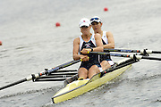 Poznan, POLAND.  2006, FISA, Rowing, World Cup, GBR W2X bow, Annie VERNON and Anna  BEBINGTON, move  away from  the  start, on the Malta  Lake. Regatta Course, Poznan, Thurs. 15.06.2006. © Peter Spurrier   .[Mandatory Credit Peter Spurrier/ Intersport Images] Rowing Course:Malta Rowing Course, Poznan, POLAND