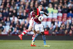 Aston Villa Forward Christian Benteke (BEL) - Photo mandatory by-line: Rogan Thomson/JMP - 07966 386802 - 23/03/2014 - SPORT - FOOTBALL - Villa Park, Birmingham - Aston Villa v Stoke City - Barclays Premier League.