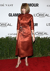 November 14, 2016 - Hollywood, California, U.S. - Anna Wintour arrives for the Glamour Women of the Year Awards 2016 at the Neuehouse Hollywood. (Credit Image: © Lisa O'Connor via ZUMA Wire)