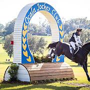 Liz Halliday-Sharp (USA) and Fernhill By Night at the Ocala Jockey Club International 3-Day Event in Reddick, Florida.