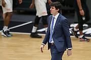 Basketball: Deutschland, 1. Bundesliga, Hamburg Towers -  Telekom Baskets Bonn, Hamburg, 12.02.2021<br /> Enttäuschung bei Trainer Pedro Calles (Towers)<br /> © Torsten Helmke