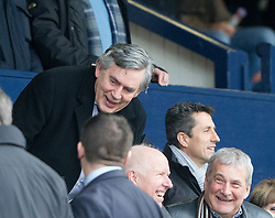 Gordon Brown and John Collins in the stand. Raith Rovers 1 v 1 Hibernian, Scottish Championship game played 18/2/2017 at Starks Park.