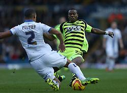 Yeovil Town's Liam Davis battles with Leeds United's Lee Peltier-Photo mandatory by-line: Matt Bunn/JMP - Tel: Mobile: 07966 386802 02/11/2013 - SPORT - FOOTBALL - Elland Road - Leeds - Leeds United v Yeovil Town - Sky Bet Championship