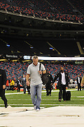 New Orleans, Louisiana, U.S. - NFL Minnesota Vikings QB BRETT FAVRE (4) arrives at the Louisiana Super Dome to play the World Champion New Orleans Saints Thursday. Super Bowl Champions New Orleans Saints play the Minnesota Vikings in the season opener in New Orleans Louisiana Thursday. Its the first game for Brett Favre since he was hurt last season against the Saints in the Super Dome and had ankle surgery the the first game for Reggie Bush who may have to give back his Heisman Trophy saints went on to win 14-9. .(Credit Image: © Suzi Altman©SuziAltman.com