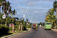 Road into Ciego de Avila, Cuba.